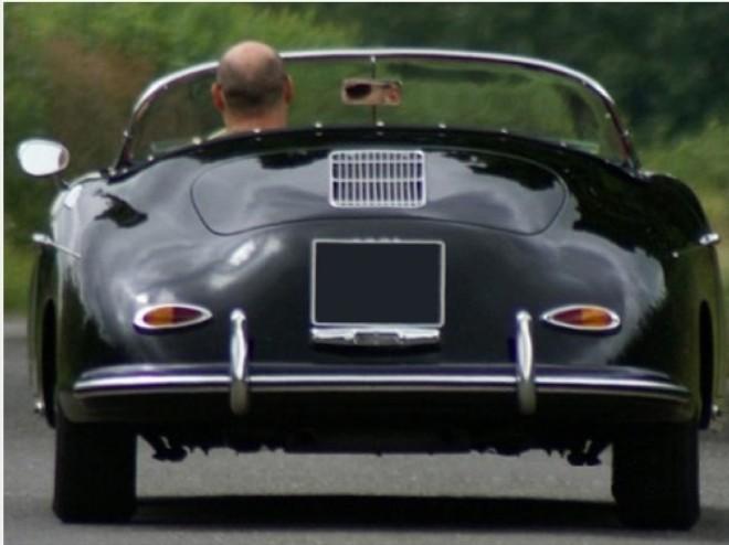Classic Car Rental Porsche Speedster Black