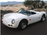 Classic Car rental  Convertible Porsche 550 RS Spyder - hire classic luxury car with driver without driver authentic French Riviera Juan Les Pins Antibes Cannes