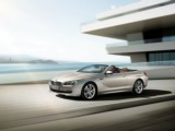 Car rental Convertible BMW 650 - luxury convertible automatic sports car with driver modern sleek family stylish interior in Juan Les Pins Cannes Monaco Nice Antibes