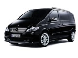 Rent the Mercedes Viano Ambiente L - hire luxury city car automatic with driver minivan airport family meetings business in Antibes Golfe Juan Les Pins Nice Cannes Mandelieu