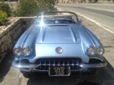 Rent a classic car Corvette C1 - Luxury sports convertible car experience authentic vintage vehicle in Eze sur Mer Monaco Nice